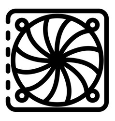 Ventilation fan under cover icon outline style vector