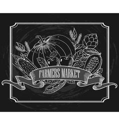 Vintage Farmers Market Signage vector image