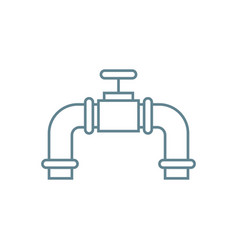 Water flow control linear icon concept water flow vector