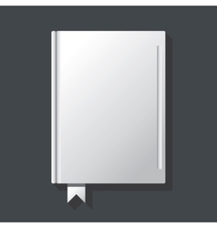 White blank book cover vector