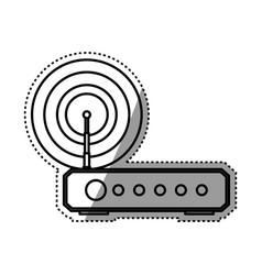 wifi internet modem vector image