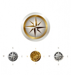 wind rose collection vector image