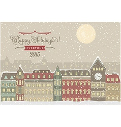 Winter Cityscape Christmas vector image