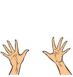Woman hands fingers high five vector