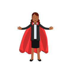 young african business woman in black jacket and vector image