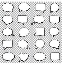 bubble speech set vector image