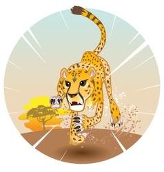 Cheetah King of Speed vector image vector image