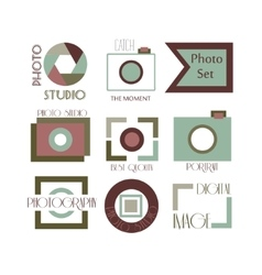 collection of photography logo vector image vector image