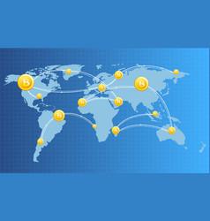 financial technology vector image vector image