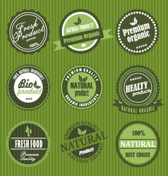 fresh product label vector image vector image