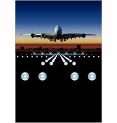 airbus at sunrise vector image