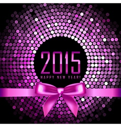 Happy New Year 2015 background with disco lights vector image vector image