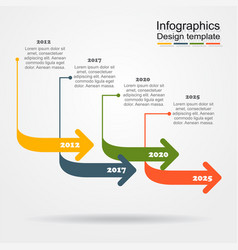 infographic design template with place for data vector image vector image