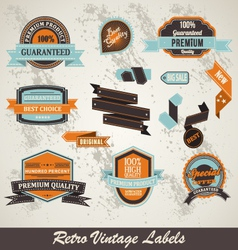 label collection vector image vector image