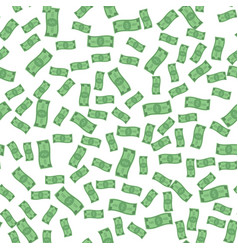 seamless pattern of flying paper money vector image vector image