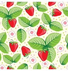 seamless sweet strawberry background vector image vector image