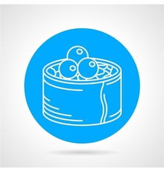 Sushi line icon vector image
