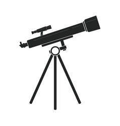 Telescope in black vector