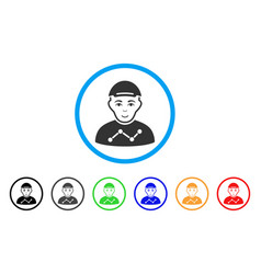 User stats rounded icon vector