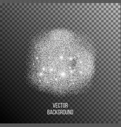 abstract background of random falling silver dots vector image