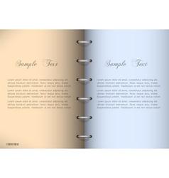 Blank notebook vector image