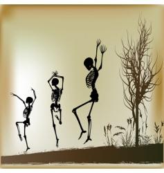 dancing skeletons vector image vector image