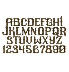 Decorative vintage font time machine vector