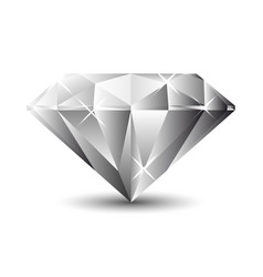 diamond isolated on a white background vector image