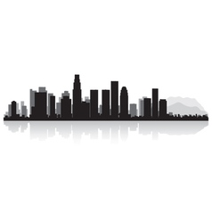 Los Angeles USA city skyline silhouette vector image vector image