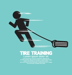 Runner With Tire Training Symbol vector image vector image
