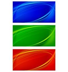Set of wavy background vector image vector image
