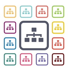 structure flat icons set vector image vector image