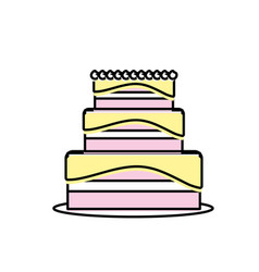 Delicious cake to celebrate special day vector