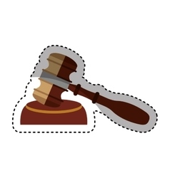 gavel wooden isolated icon vector image