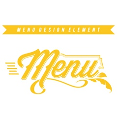 Menu Design Element vector image vector image