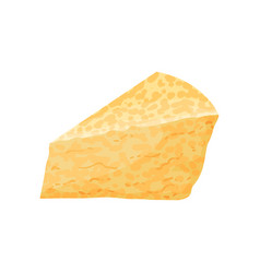piece of cheese dairy product cartoon vector image