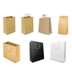 set of vector paper bags vector image