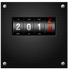 2013 New Year Analog Counter vector image