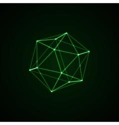 3D illuminated platonic shape vector