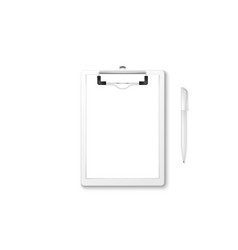 3d realistic white clipboard with blank vector