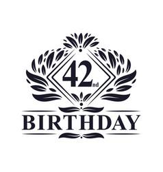 42 years birthday logo luxury 42nd birthday vector