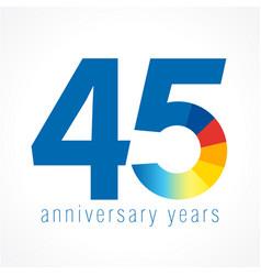 45 anniversary logo vector