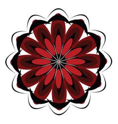 A black spiritual mandala design or color vector