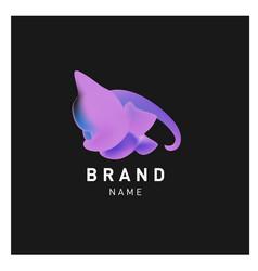 Abstract liquid 3d gradient logo brand company vector