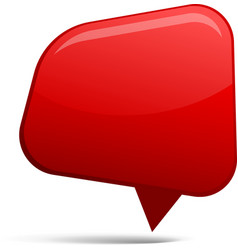 Abstract Red speech bubbles vector image