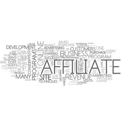 Affiliate revenue develop a franchise text word vector