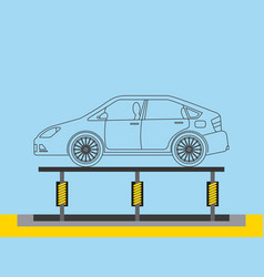 Automotive industry body car production conveyor vector
