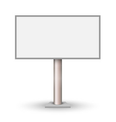blank outdoor billboard isolated vector image