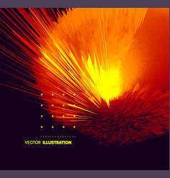 burst fire and explosion abstract with dynamic vector image