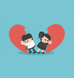 businessman break up relationship vector image